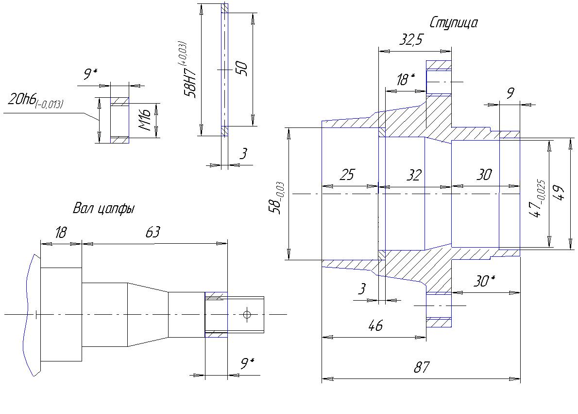 схема задняя ступица 2108